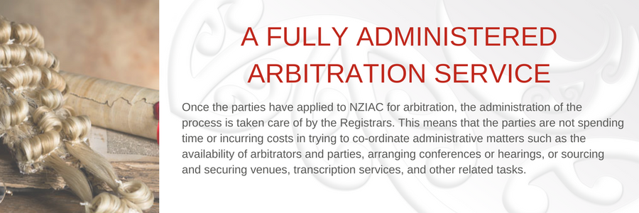 A fully administered Arbitration service